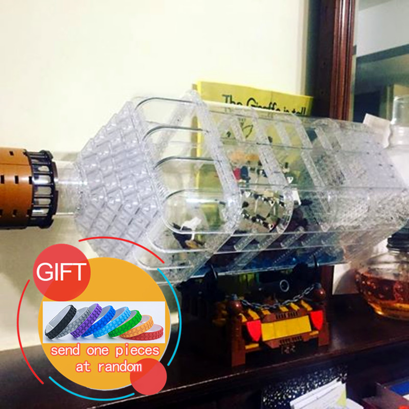 16045 775pcs Creative Series The Ship in the Bottle Set Building Blocks Bricks Toys children New year Gift lepin new 10002 street creative series naruto of green grocery send board one piece ship box for toys