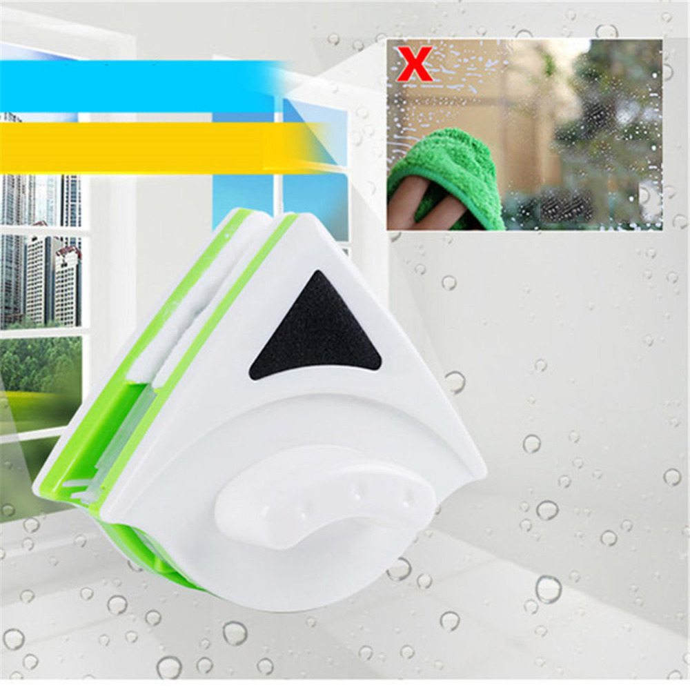 Double Side Useful Kitchen Car for Water Glass Tools Household Cleaning Brushes Home Tool Magnetic Window Cleaner Washing Brush
