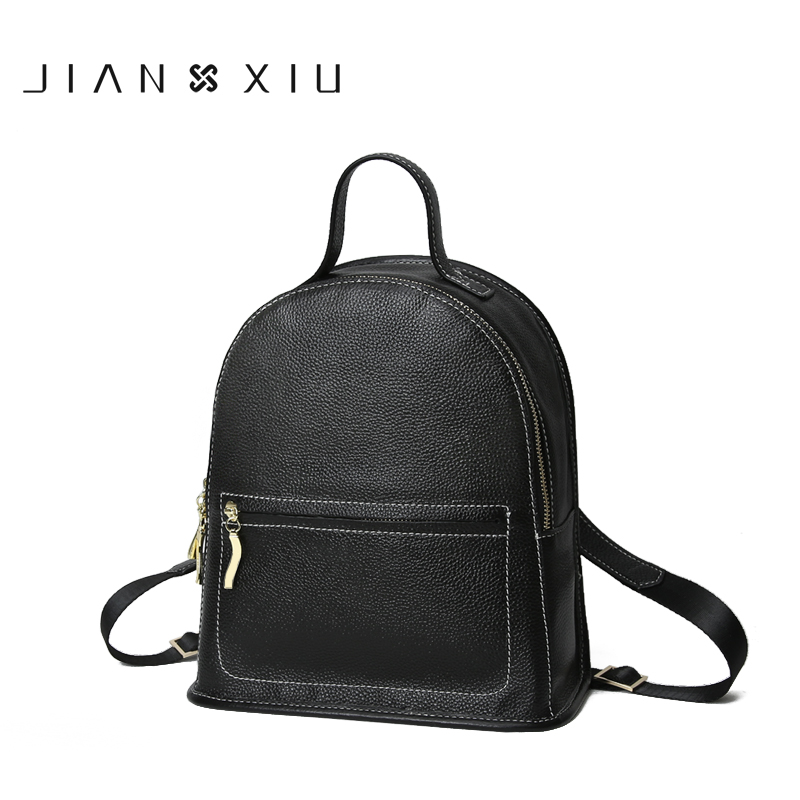 JIANXIU Brand Backpack Mochila Feminina Mochilas School Bags Women Bag Genuine Leather Backpacks Travel Bagpack Mochilas Mujer brand vintage women bagpack beetle shape cool split leather backpack teenager school bag knapsack cowhide mochila feminina