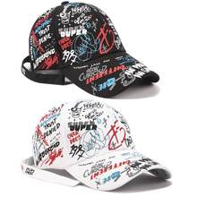 dd8eacb654c41 Baseball Cap Graffiti Sun Caps Hip Hop Cap Visor Spring Hat Men Adjustable  Snapback Cotton Cap For Women Hats
