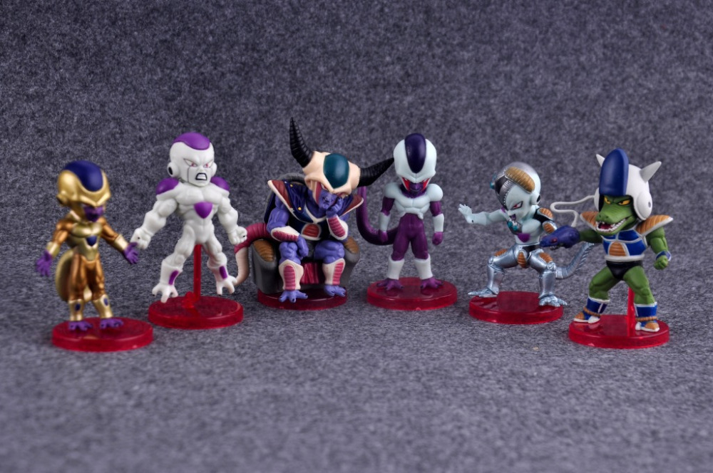 6pcs/set Frieza Dragon Ball Z Goku Action Figure PVC Collection figures toys for christmas gift brinquedos iron man action figure mini egg attack light 6pcs set action figures pvc brinquedos collection figures toys for christmas gift