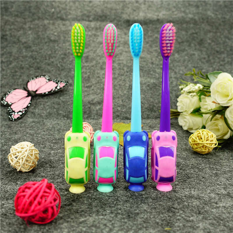 1Pcs Baby Boy Car Soft-bristled Toothbrush Smiling Car Tooth Cleaner Baby Kids Training Dental Care Child Teeth Brushes Set