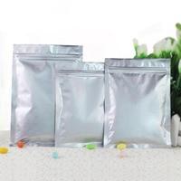 7*13cm Pure Aluminum Foil Ziplock Bag Mylar Foil Grip Seal Zipper Seal ZipLock Food Storage Package Pouch Smell Proof Bags