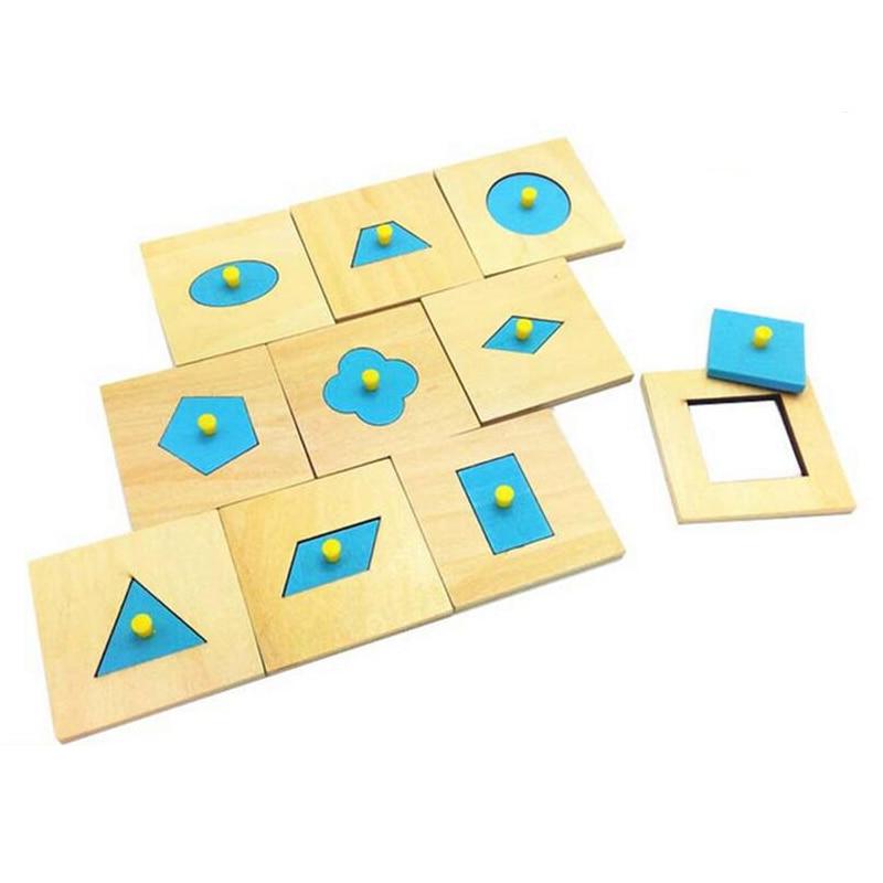 Mainan kreatif Bahan Montessori Pegang Piring piring Geometri Mengenali Pendidikan Awal Set Anak Prasekolah Keluarga Anak-anak