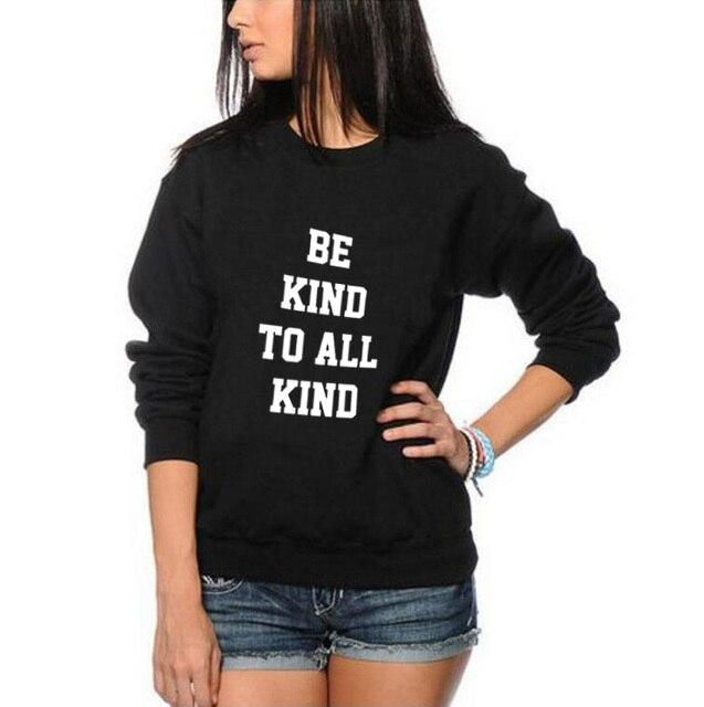 Trui Zwart Wit.Worden Soort Te Alle Soort Crewneck Sweatshirt Tekst Slogan Vrouwen