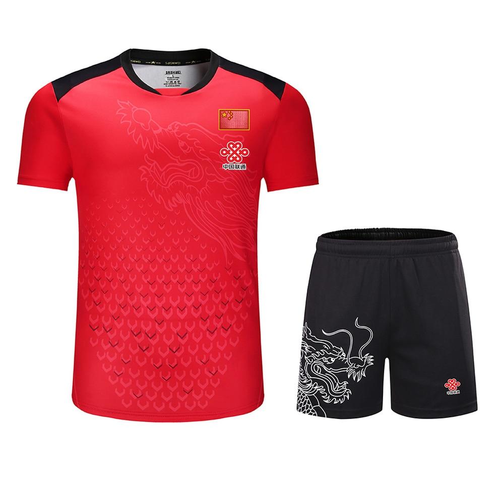 New CHINA Dragon Table Tennis Sets Men / Women , Pingpong Sets , Chinese Table Tennis Clothes Men , Table Tennis Shirts + Shorts