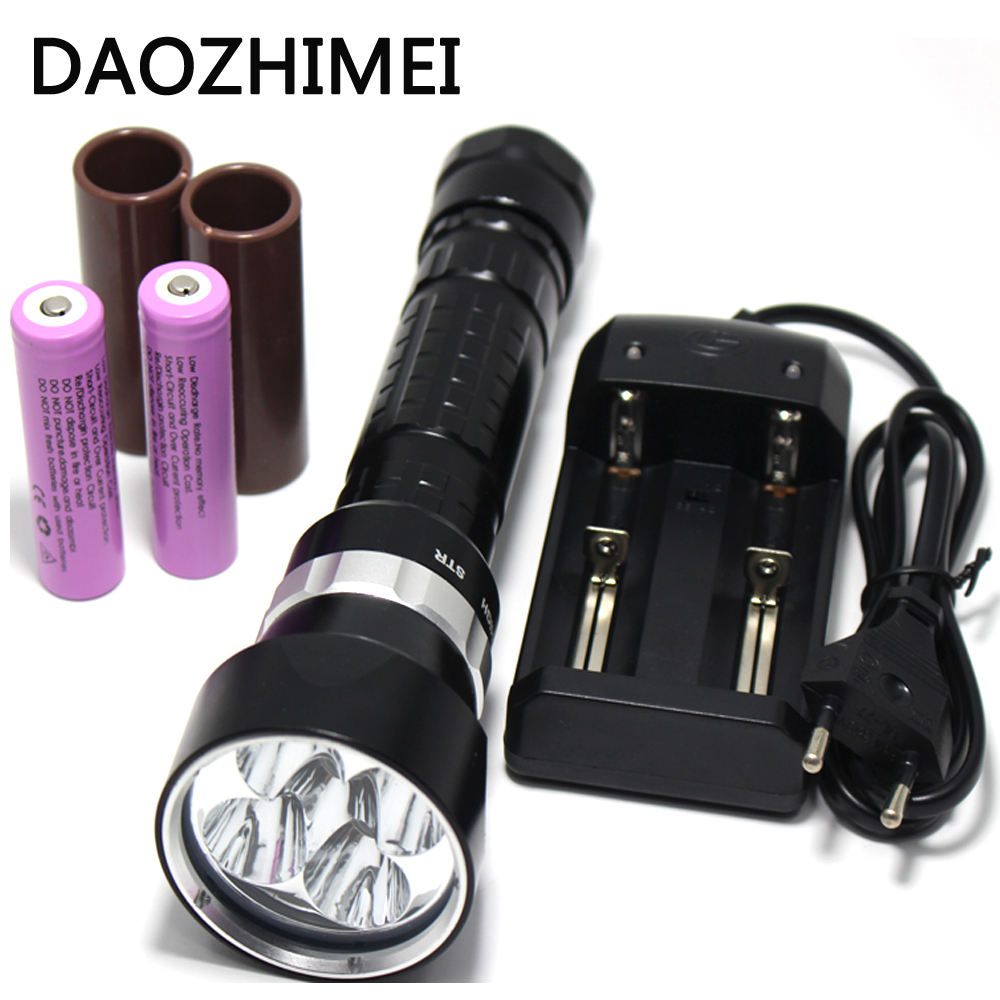15000 Lumen 5 x XML L2 LED Diving Flashlight Torch Underwater 200M Waterproof LED Flash Light Lantern Torch