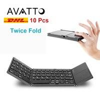 Оптовая продажа Портативный складной Bluetooth клавиатура Беспроводной складной тачпад Клавиатура для IOS/Android/Windows ipad Phone Tablet PC