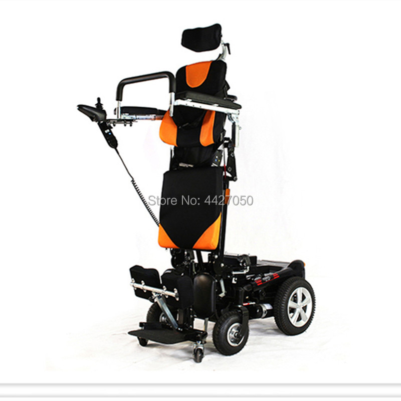 2018 High quality safty foldable stand up electric wheelchair for handicapped elderly