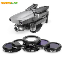 Sunnylife  for DJI Mavic 2 Zoom Drone 4K Camera Lens Filter MCUV CPL ND4 ND8 ND16 ND32 Accessories