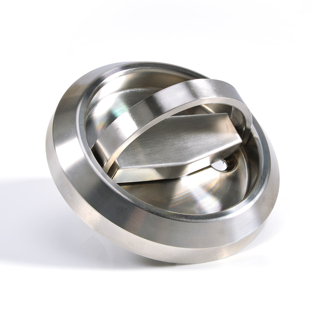 Stainless Steel Hidden Cabinet Knobs And Handles Round Recessed Cupboard  Pulls Concealed Door Drawer Furniture Handles