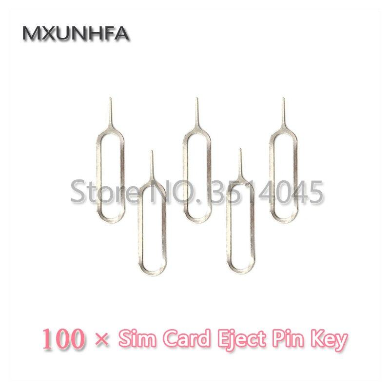 100 יחידות מתכת SIM כרטיס מגש הסרת הוצא פין מפתח פתוח כלי מחט עבור iPhone 8 7 6 s בתוספת X iPad סמסונג S7 S8 לxiaomi