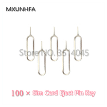 100pcs Metal SIM Card Tray Removal Eject Pin Key Open