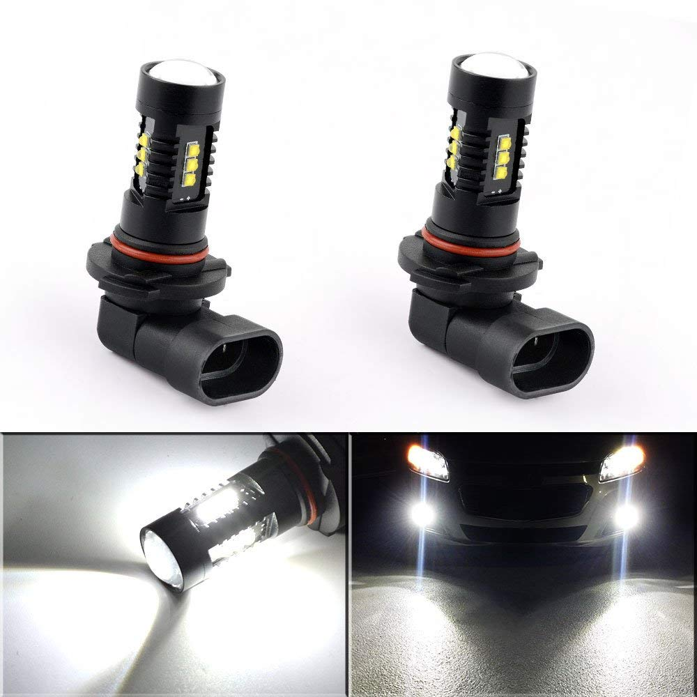 2Pcs H8 H11 Led HB4 9006 HB3 9005 Fog Lights Bulb 60W <font><b>2000LM</b></font> 6000K White Car Driving Day Running Lamp Auto Leds Light 12V image