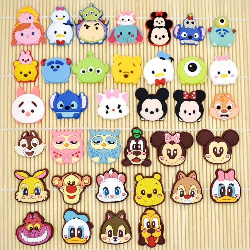10PCS HOT Cartoon Flatback Soft DIY Craft Docoration Fit Bracelets/Clog/Phone Case/Hair Accessory Charms Stitching Patches