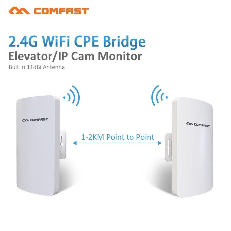 2 шт. 300 Мбит/с Беспроводной Открытый CPE WI-FI маршрутизатор 2 км точка доступа AP маршрутизатор WDS WI-FI мост WI FI антенна Extender усилитель мост ...