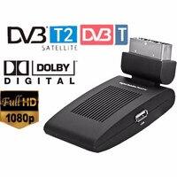 미니 scart를 토 무료 위성 tv 채널 dvb-T2 수신기 dvb T 위성 수신기 HD DVB-T2 디지털 TV 위성 수신