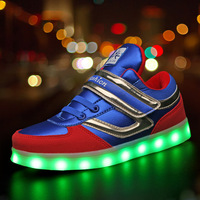 Luminous Sneakers for Boys Glowing Sneakers with Light Kids Led Shoes USB Illuminated Krasovki Led Light Up Sneakers Size 26 37