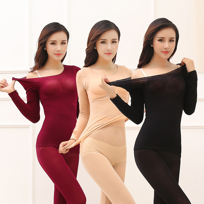 3Pcslot Thermal Underwear For Women Warm Long Johns Sexy Seamless Winter Thermal Underwear Set Thermos Intimates Women 16