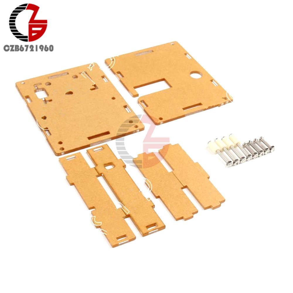 Akrilik Bening LCR-T4 Case Transparan LCR-T4 Shell Kotak untuk M328 Berdasarkan Transistor Penguji Kapasitansi ESR SCR/MOS PNP Mega328