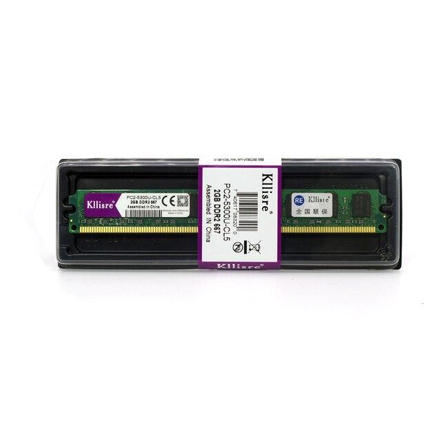 Kllisre Área de Trabalho De memória RAM DDR2 de 2 GB 800 667 MHz não-ECC (INTEL & AMD) Sistema de Alta compatível