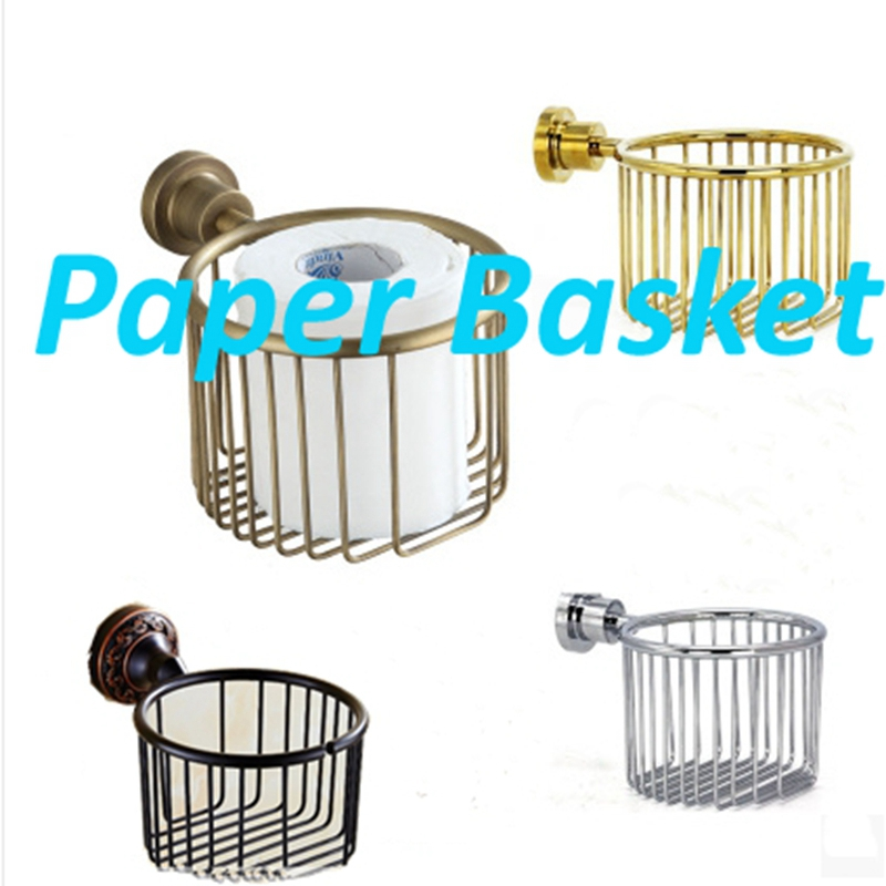 Newly Arrival Wholesale and Retail Bathroom Shower Room Toilet Paper Basket Holder Round Tissue Rack Shelf Wall Mounted wholesale and retail luxury polished golden bathroom toilet paper holder tissue box wall mounted dual paper boxes