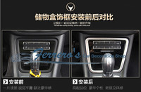 For 2013 SEAT Alhambra Free shipping Stainless steel Car stickers of Central Store content box decoration car styling