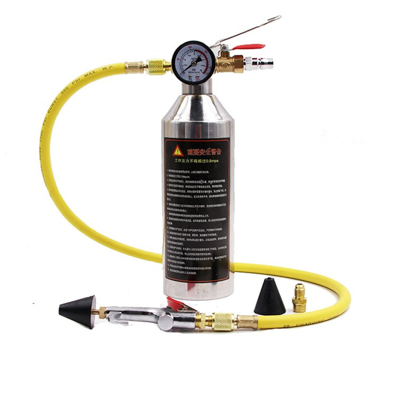 Car Air Conditioning Pipe Cleaning Bottle A/C Flush Kits Canister For  Clean Gun Tool For R134a R12 R22 R410a R404a