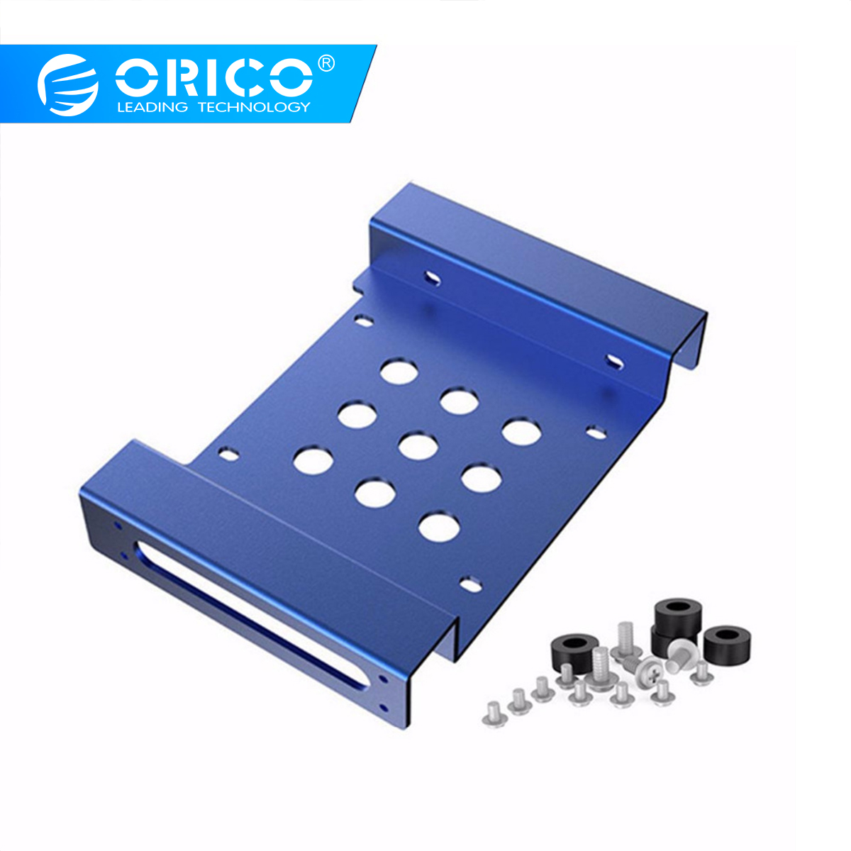 ORICO Aluminum 5.25 inch to 2.5 or 3.5 Inch Internal Hard Disk Drive Mounting Kit with Screws and SHOCK Absorption Rubber Washer