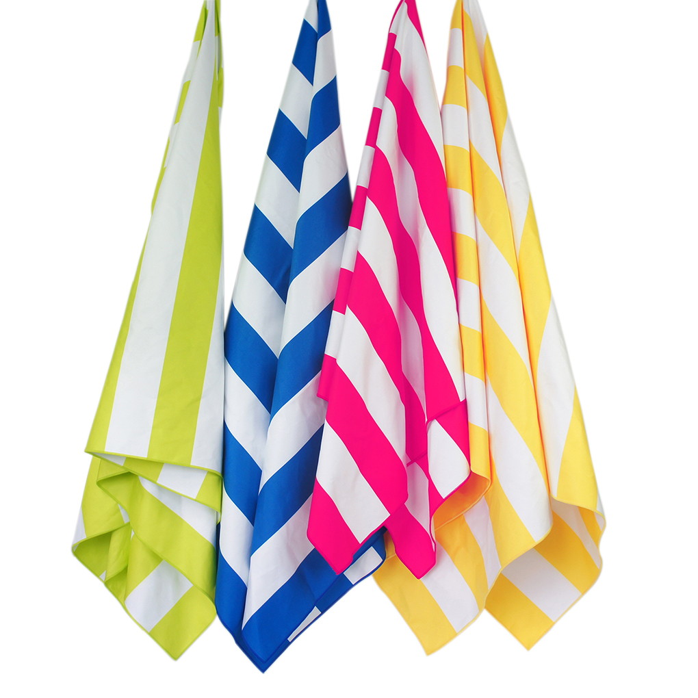 New Striped Extra Large Microfibre Beach Towel Quick Dry