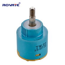 ROVATE Faucet Cartridge 35mm Ceramic Valve 360 Degree Rotation Faucet Accessories Faucet Replacement Cartridge Mixing Valve