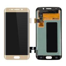 5 PCS/Lot LCD Display Touch Screen Digitizer Majelis untuk Samsung S6 Tepi Layar LCD Layar Panel Kaca Penggantian Telepon