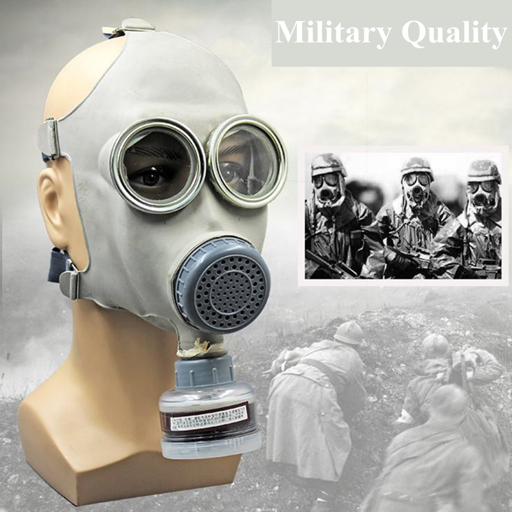 High Quality Full Face Gas Mask Activated Carbon Respirator Anti-Gas Anti-Dust Mask Set Anti Organic Vapor Benzene Gas PM2.5