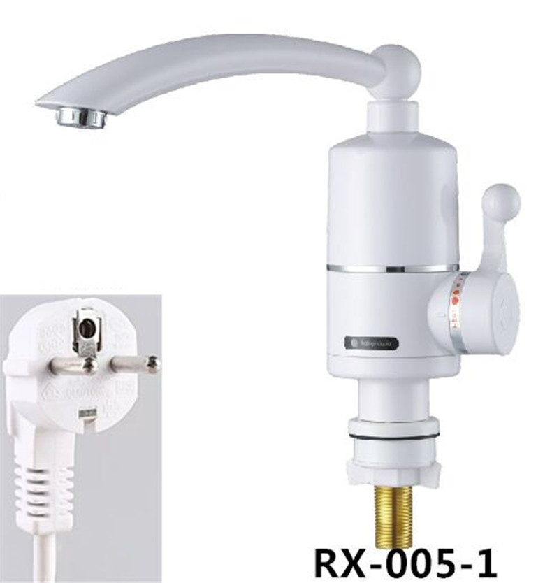 RX-005-1U,3000W Electric Water Heater Tankless Kitchen Instant Hot Water Tap Heater Electric Water Faucet Heating Tap 220v