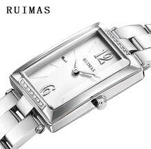 Quartz Watch Kvinnor RUIMAS Armbandsur Simple Fashion Rektangel Design Klockor för Klocka Relogio Feminino Big Sale APRR2104