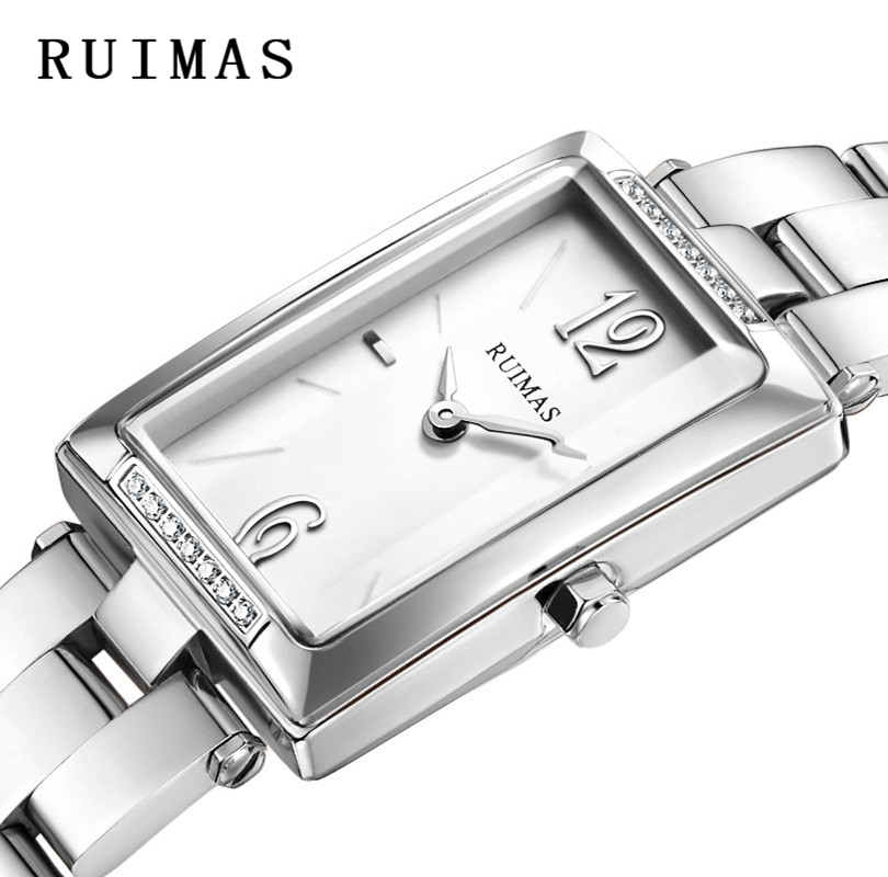 Relogio Feminino Ladies Fashion Quartz Watch Luxury Women Wristwatches Simple Stainless Steel Watches RUIMAS Clocks Montre Femme ruimas fashion leather quartz watch top brand luxury women watches ladies clock relogio feminino montre femme lover wristwatches