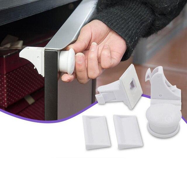 12 + 3 piezas de niño de bloqueo de protección de los niños bebé seguridad cerradura del cajón cerradura de la puerta del gabinete de limitador de bebé de seguridad cerraduras