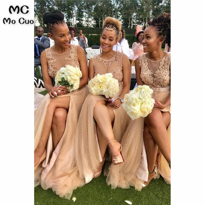 2019 Champagne Wedding Party Dress