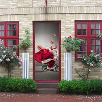 Merry Christmas Santa Claus Party Art Window Large Wall Stickers Decal Home Decor Poster Wholesale Free Shipping 4RC02