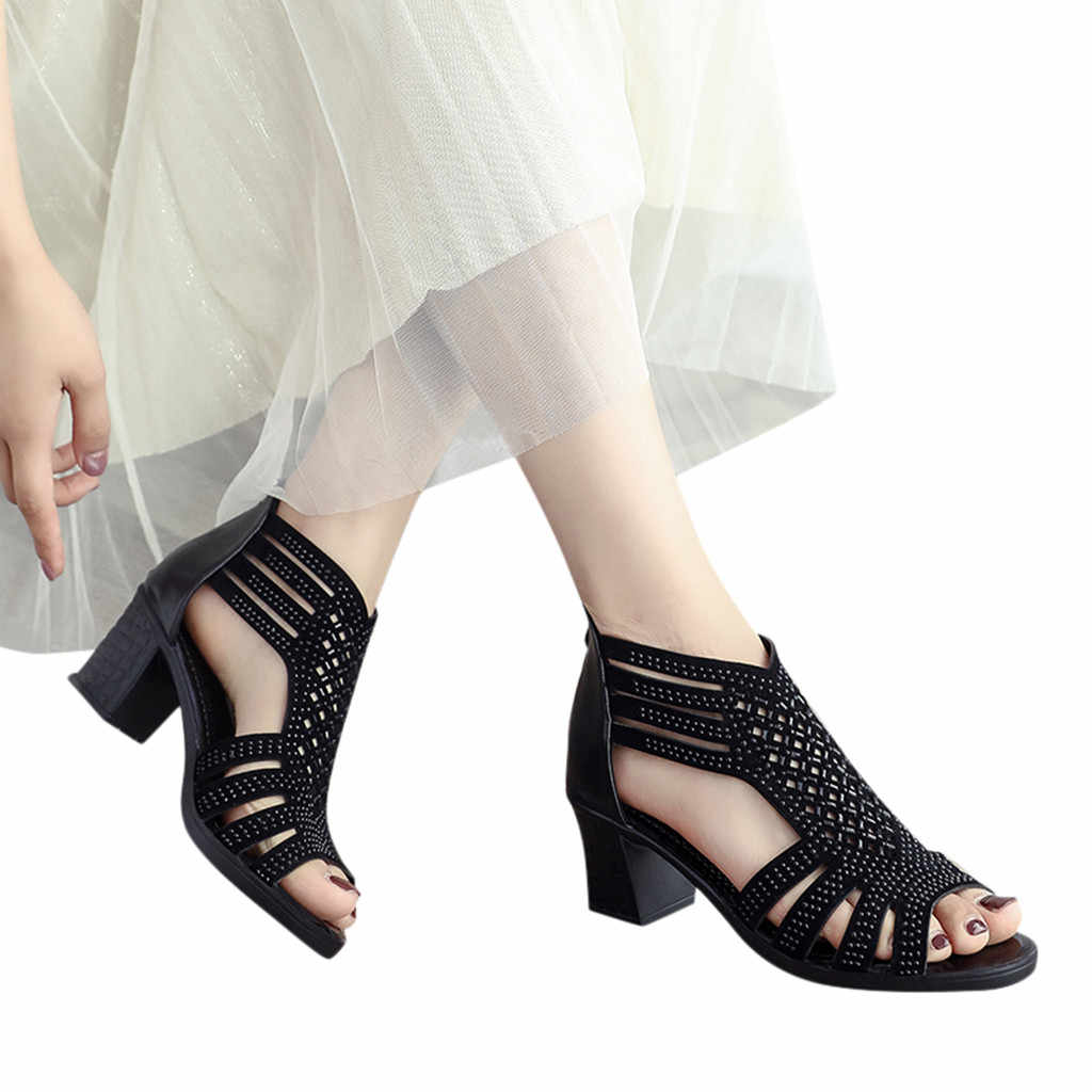 c52fb2f7ff6 ... SAGACE Sandals Spring Summer Ladies Women Wedge Sandals Fashion Fish  Mouth Hollow Roma Shoes Lady Shoes ...
