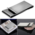 Stainless Steel Silver Color Slim Money Clip Purse Wallet Credit Card ID Holder  9R3F