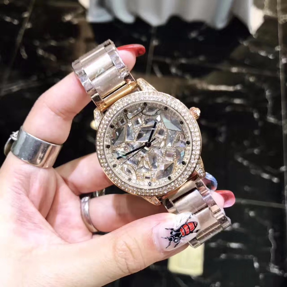 luxury Dress Brand Fashion Watch Woman Ladies Rose gold Diamond relogio feminino Dress Clock female relojes mujer montre homme fashion sunglasses women diamond luxury brand design sun glasses female mirrored lens oculos de sol feminino