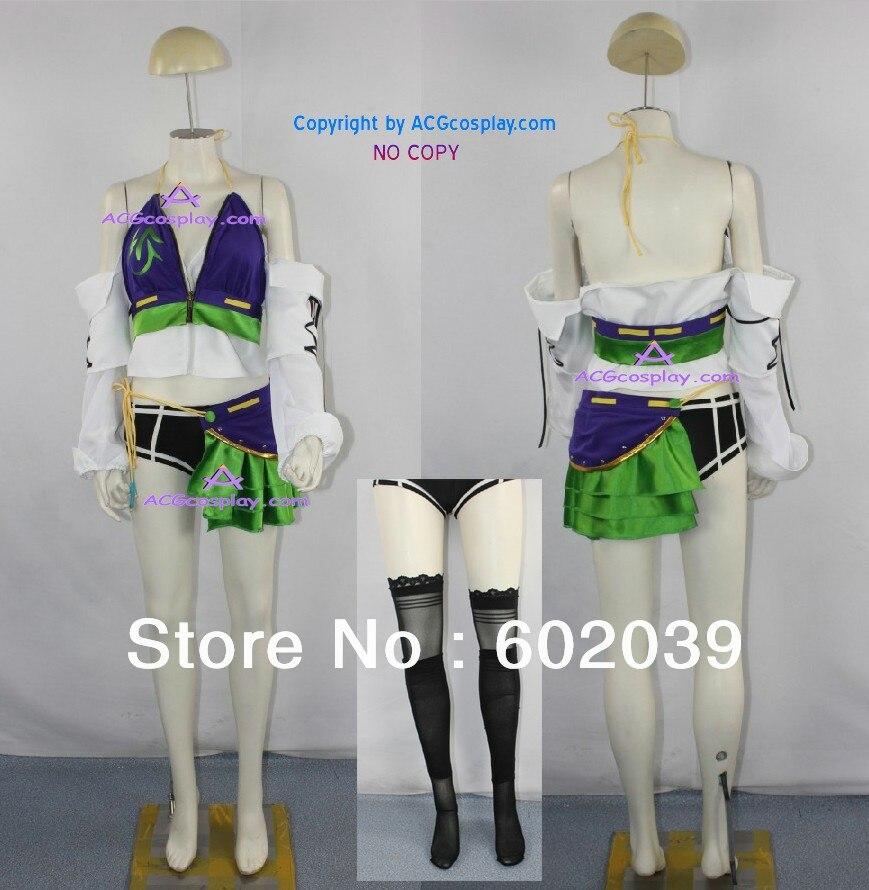 Final Fantasy XIII lebreau Косплэй костюм включают чулки