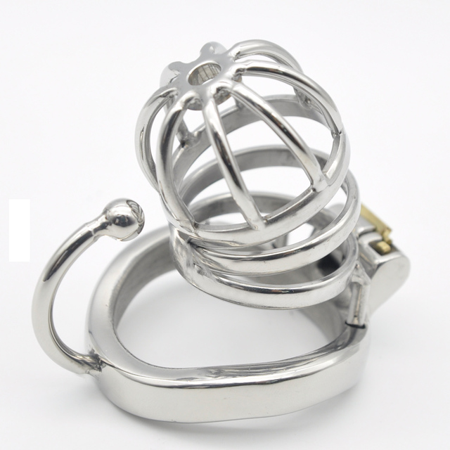 Chaste Bird Stainless Steel Male Chastity Small Cage with Base Arc Ring Devices C275
