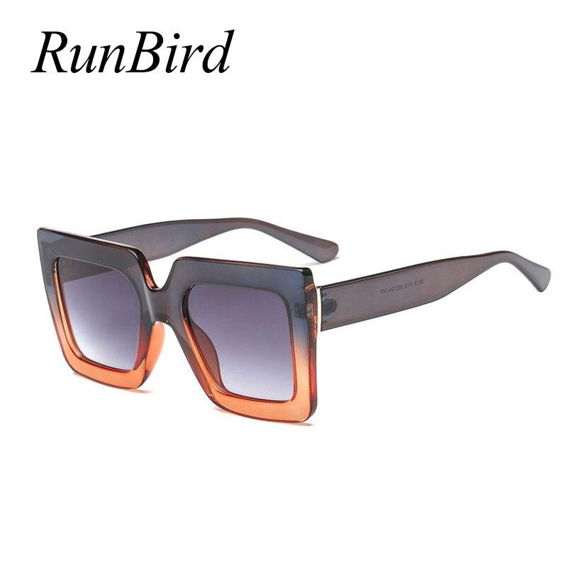 2018 נשים משקפי שמש גדולות משקפיים שמש מסגרת גדולה בציר משקפיים Eyewear UV400 רטרו כיכר מסגרת פס צבע נשי 5048