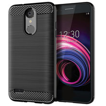 for lg aristo 3 case silicone carbon fiber cell phone anti knock soft cases