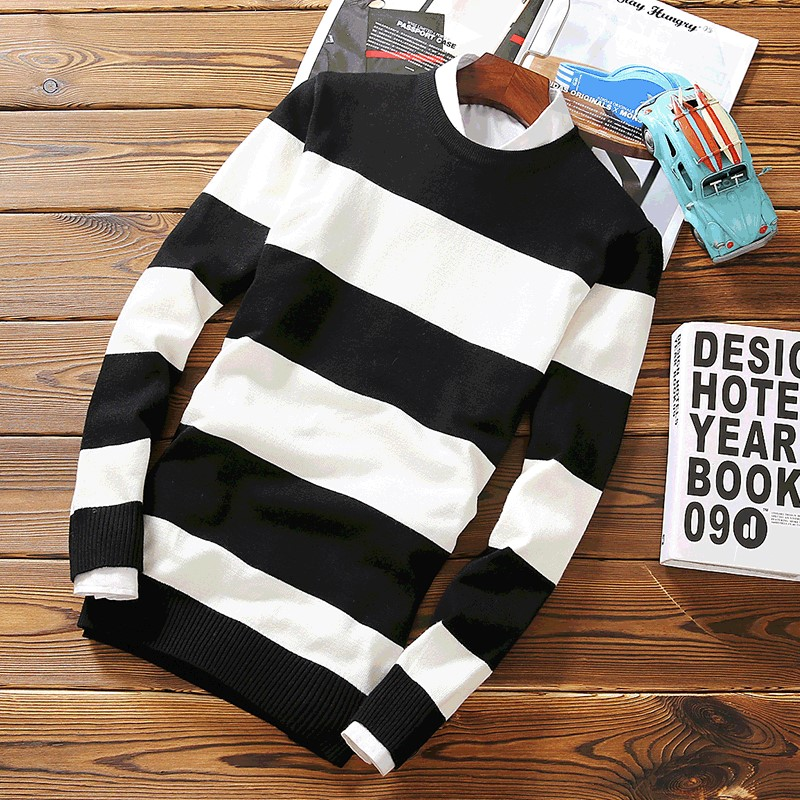 Mens Sweaters For 2019 Hombre Striped Roupas Modis Casual Knittwear Men Sweater Men Pullovers Lana Men Clothes Man Pull Homme