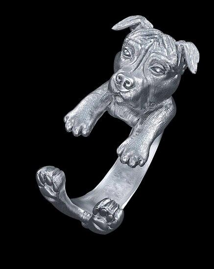Купить кольцо в стиле панк американок питбултерье кольцо виде животного