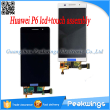 For Huawei Ascend P6 LCD Display Screen Digitizer Touch Panel Assembly With Logo