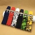 Watchand 28mm camuflagem de luxo pulseira de Borracha Pulseira de Silicone À Prova D' Água com pino de aço inoxidável fivela apto para relógio AP